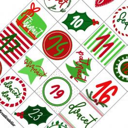 číslovky pro adventní kalendář